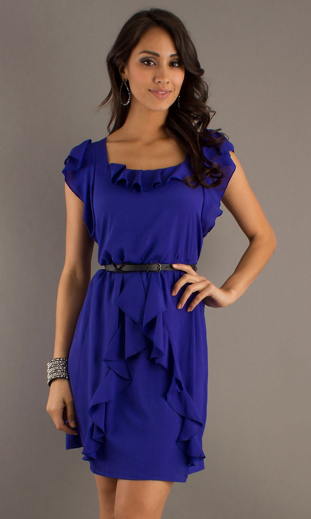 Blue Casual Dresses Photo Album - Reikian