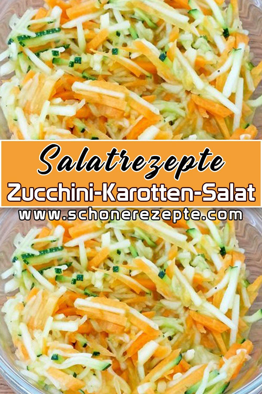 Zucchini-Karotten-Salat Rezept – Schnelle und Einfache Salatrezepte