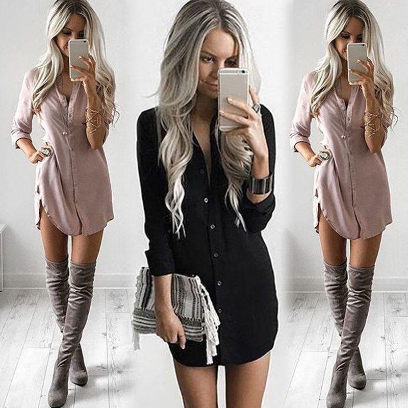 Fashion Womens Long Sleeve Loose Blouse Casual Shirt Summer Tops T-Shirt dd11d7dc6