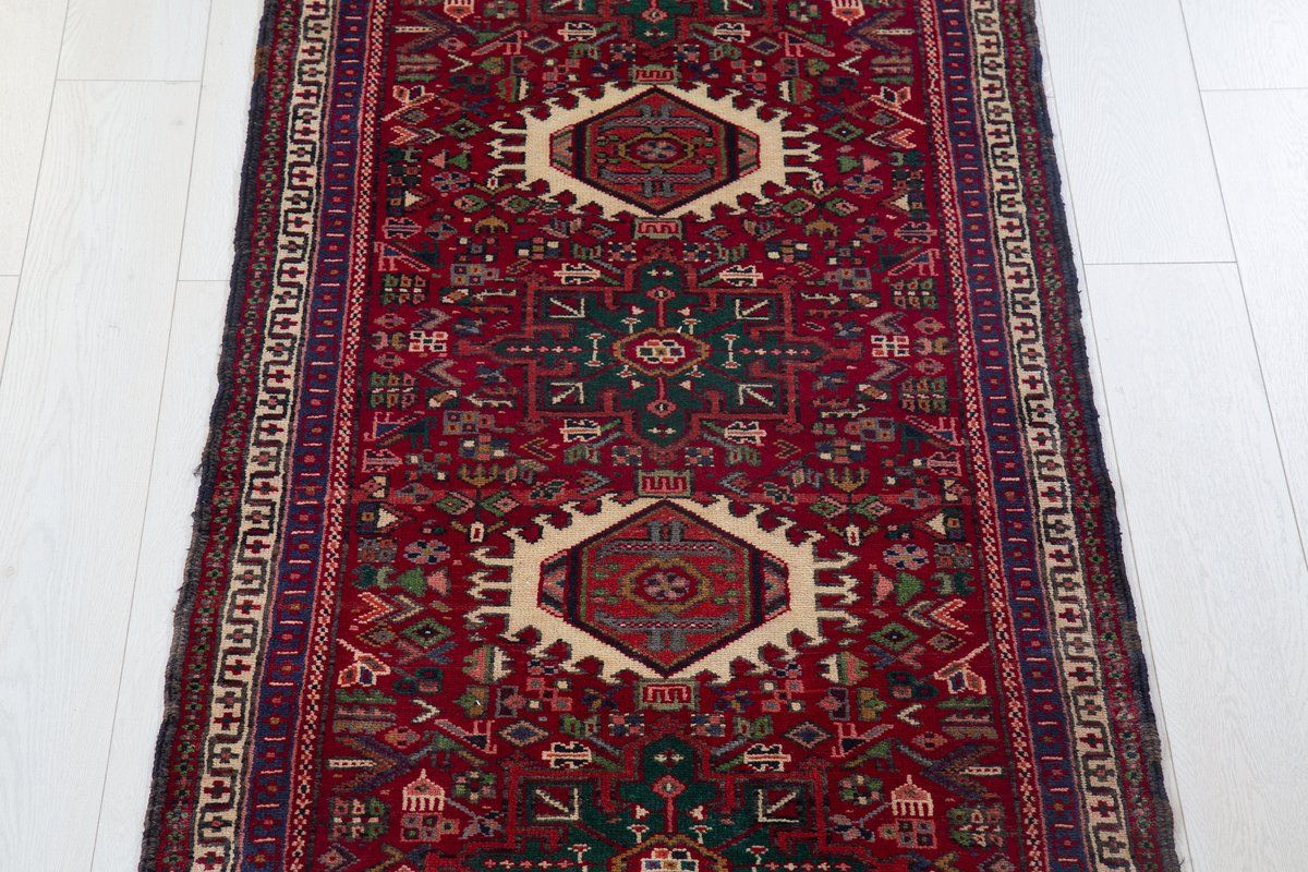 9 45 X 2 66ft Hand Knotted Red Bohemian Runner Rug Boho Rug