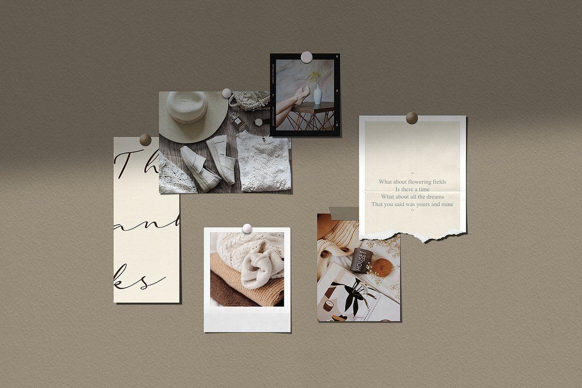 Vintage Moodboard Mockup Kit Create Realistic Layouts For Your Online Store So Minimalist Desktop Wallpaper Desktop Wallpaper Art Aesthetic Desktop Wallpaper