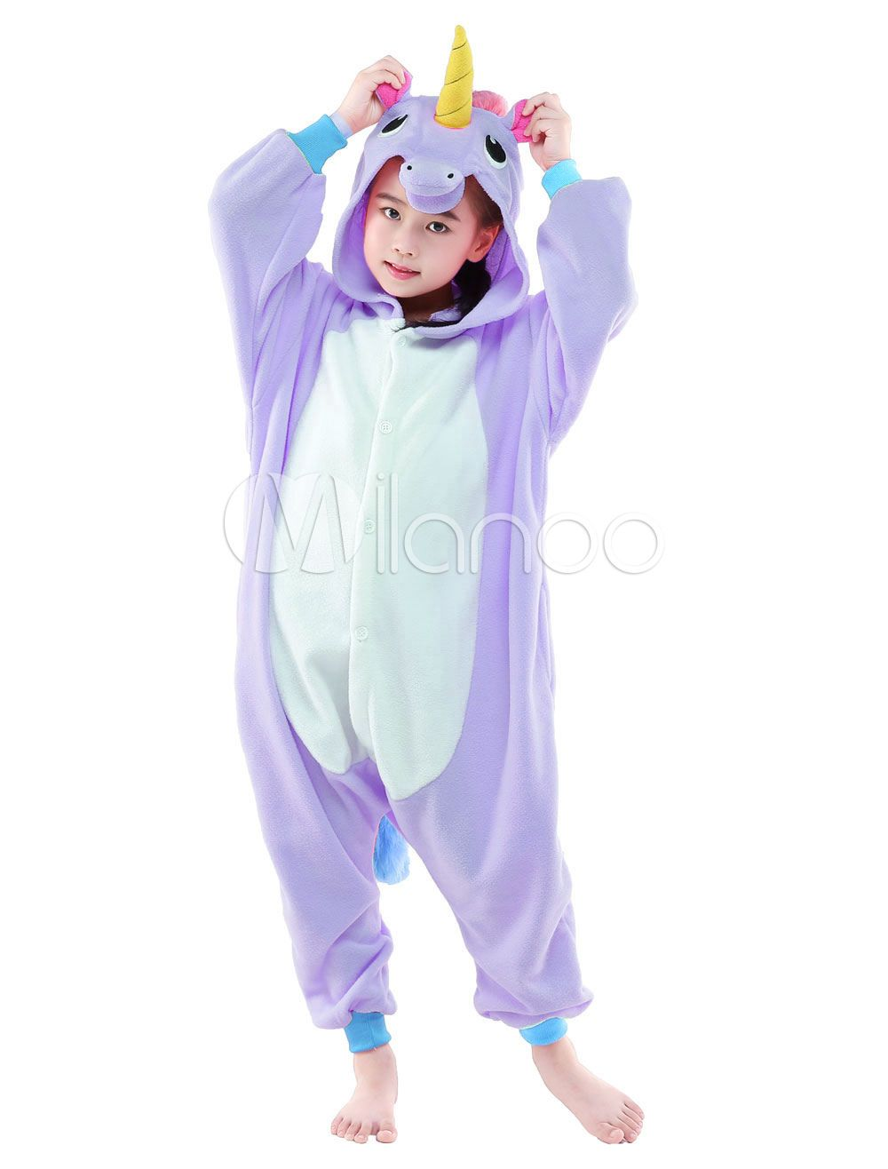 combinaison pyjama licorne rose textile polaire kigurumi enfant halloween deguisement. Black Bedroom Furniture Sets. Home Design Ideas