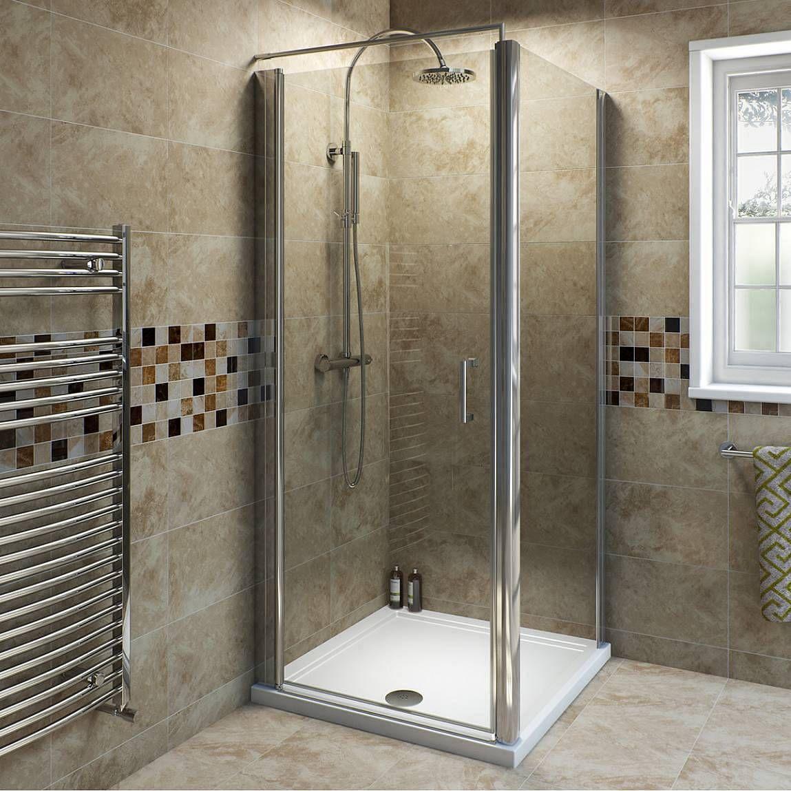 6mm frameless hinged shower enclosure 760 x 760 offer pack | Square ...