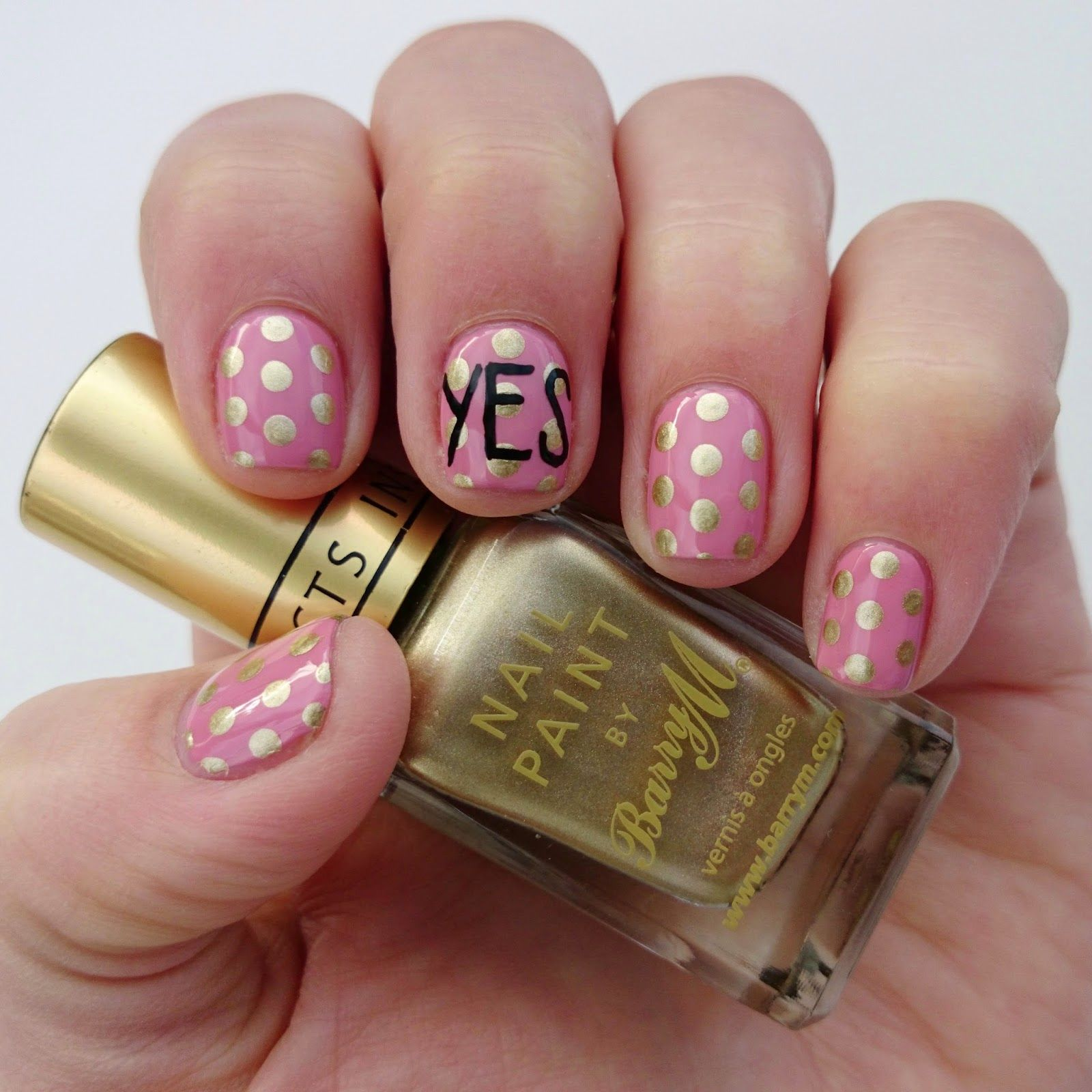 Just Say Yes! Zoella Beauty-inspired gold and pink nail art | We ...