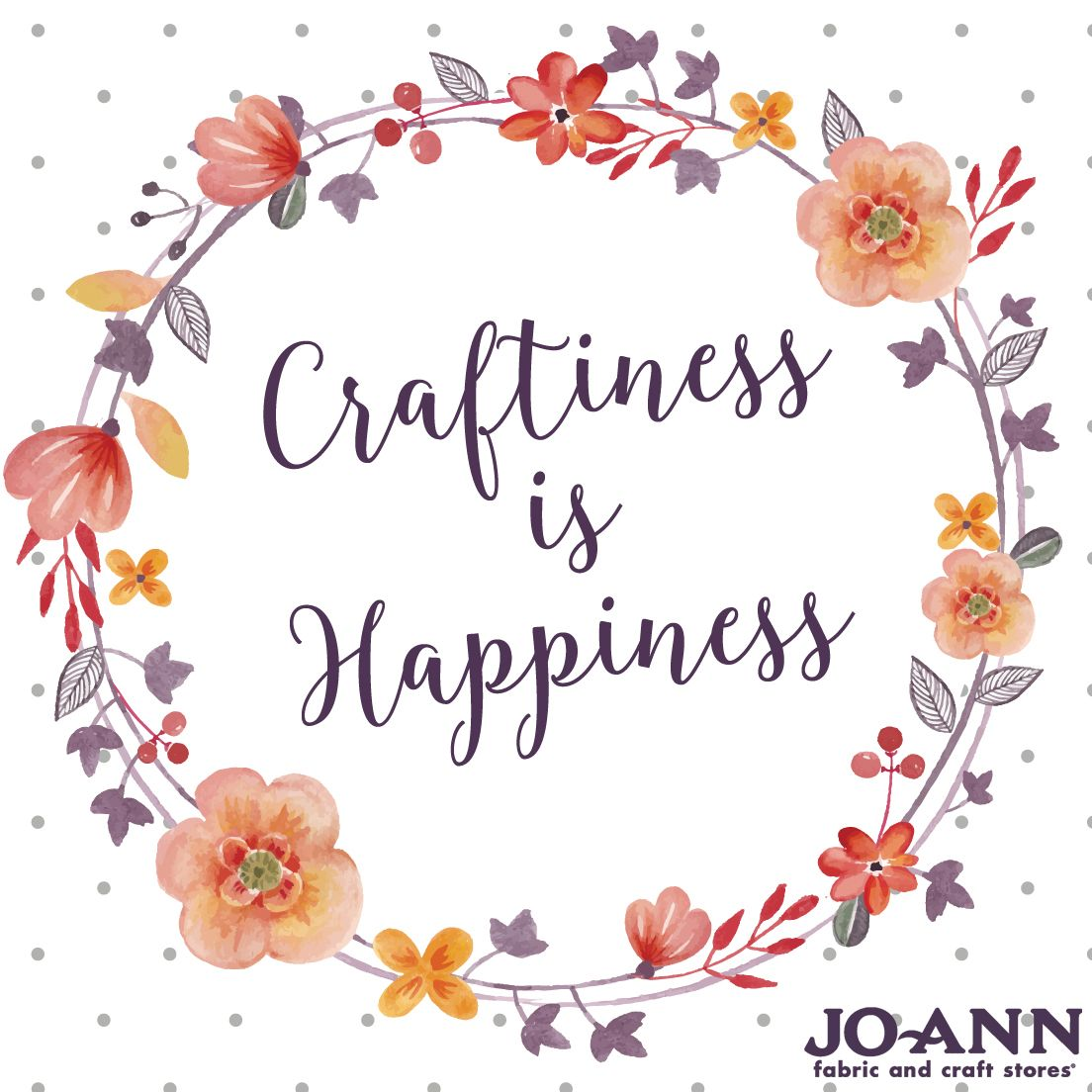 Happiness Is Homemade Home Decor Print Kitchen Quote: Craftiness Is Happiness! Our #MondayMantra!