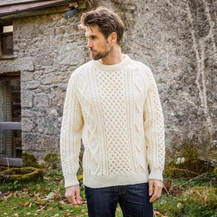mans classic irish cardigan sweater by aran crafts outstanding workmanship hpgPPn