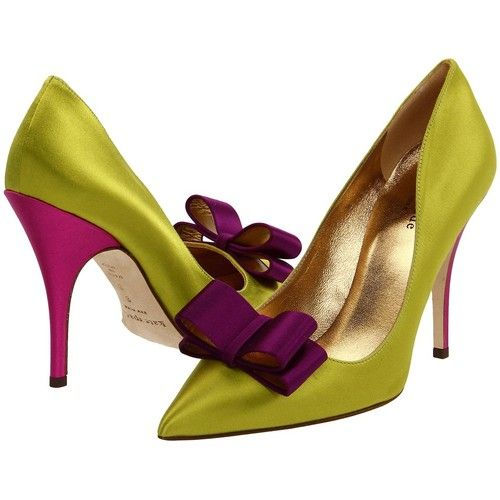 I had to walk by these everyday on my way into work. I think I have a crush on these shoes.   Kate Spade