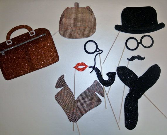 Mystery Party Photo Booth Props