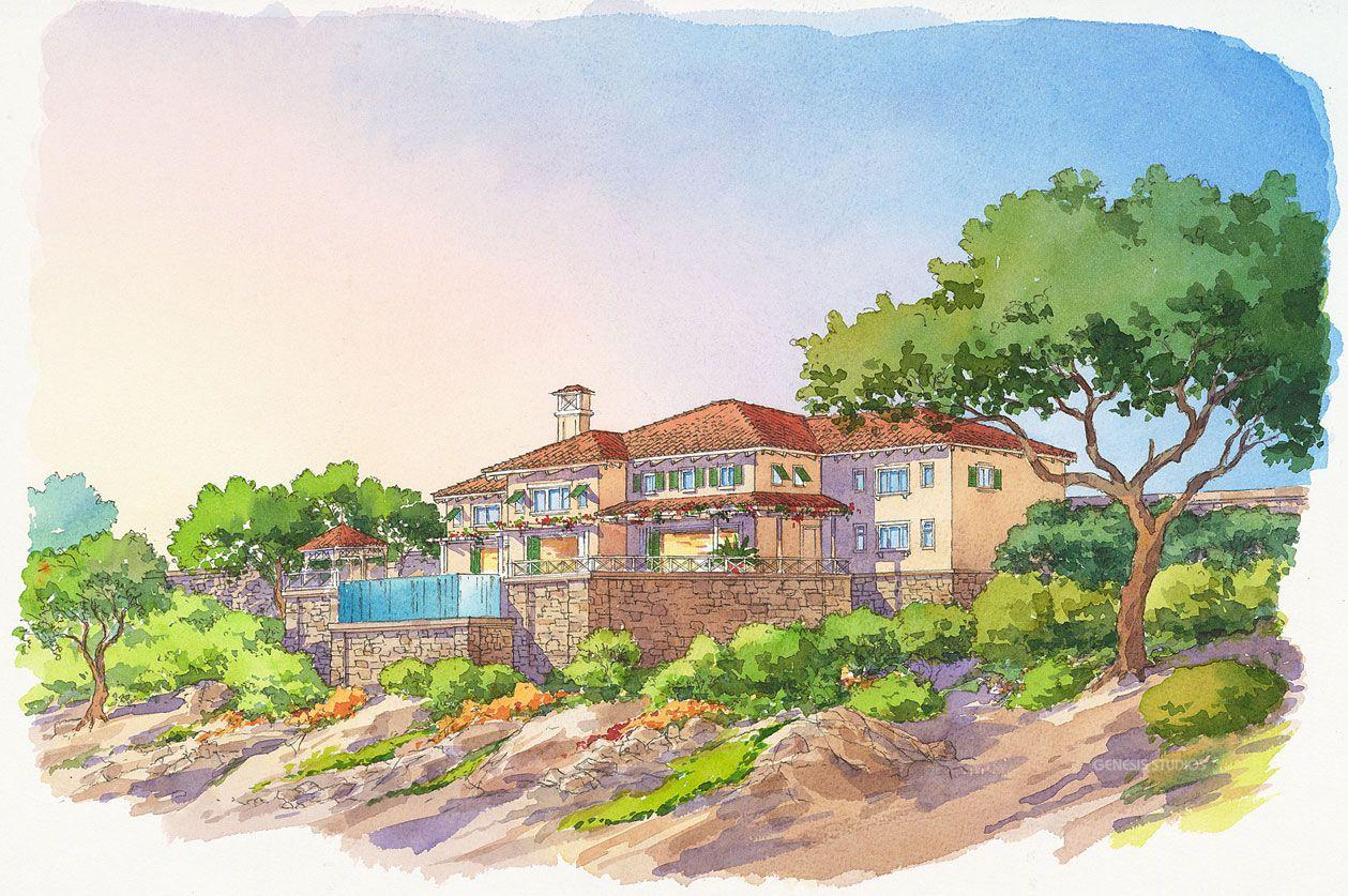 Watercolor Rendering Created By Genesis Studios Conceptual