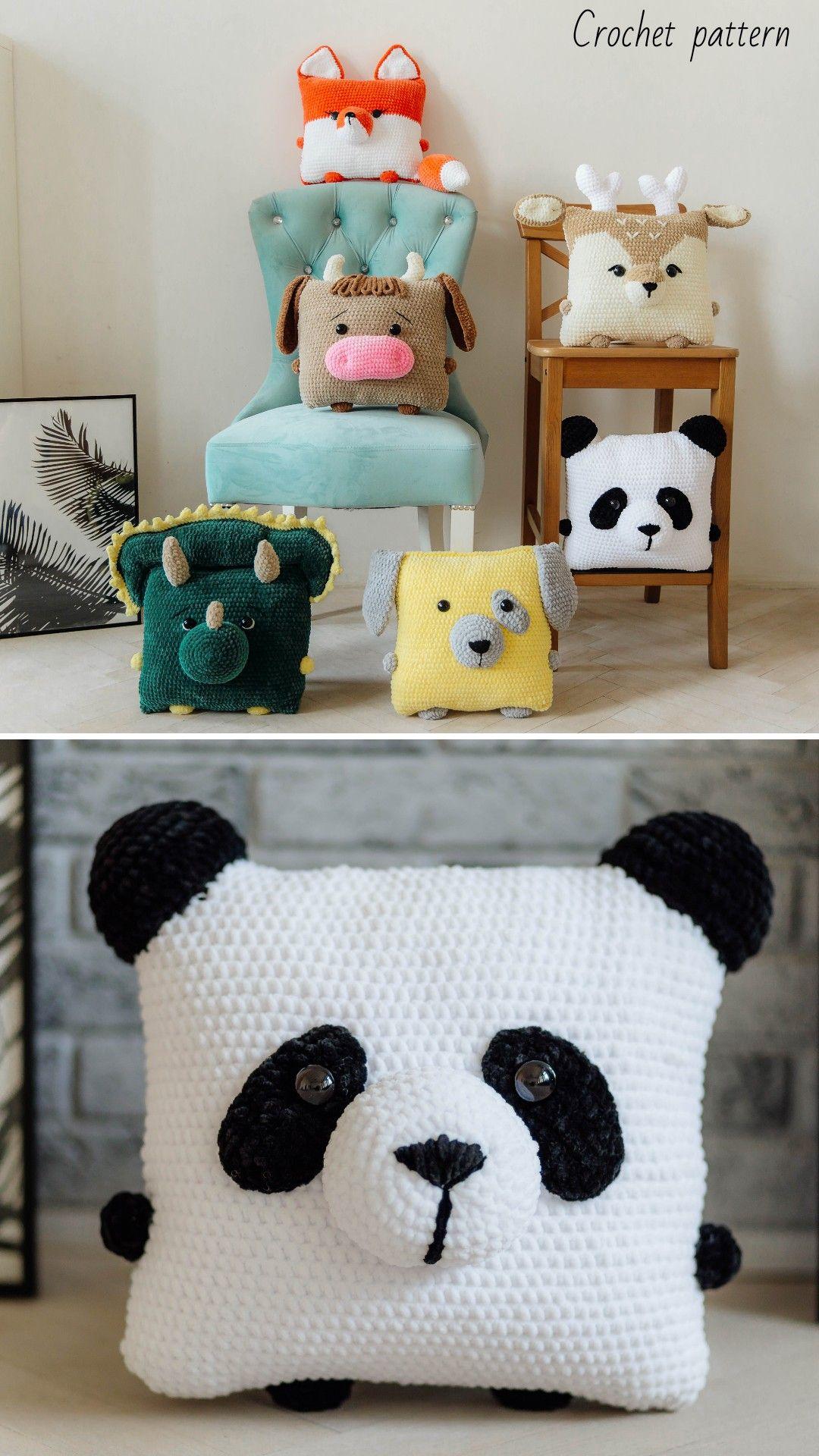 Crochet pattern pillow, amigurumi tutorial, crochet animal, amigurumi pet, crochet home decor, toys