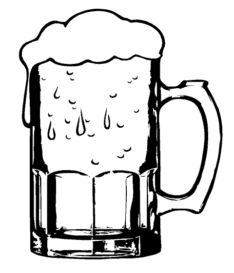 One Line Art Beer : Beer mug food beverage custom decals for home office