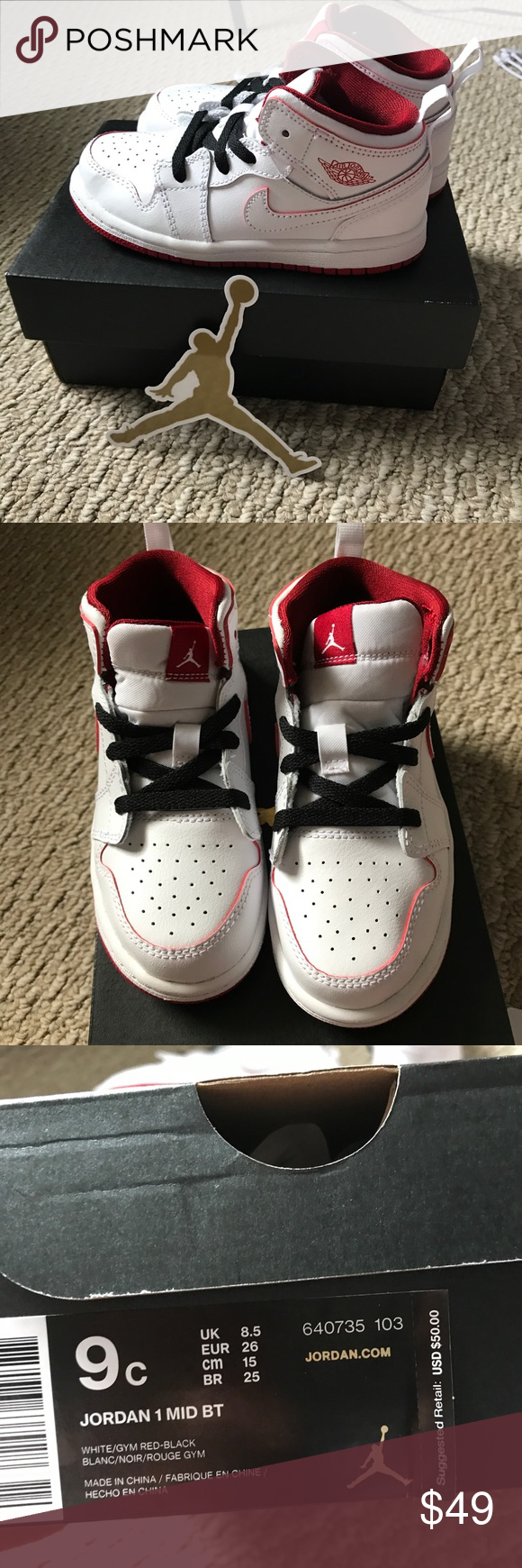 watch 6fd0f c1f10 NWT Jordan Mid BT Toddler Size 9c Brand new with the tag ...