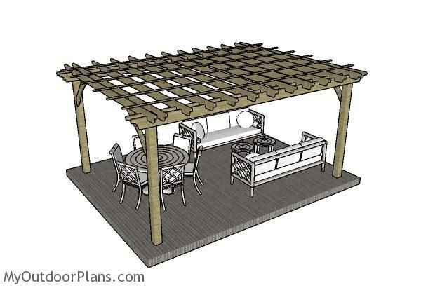 12x16 Pergola Plans Myoutdoorplans Free Woodworking Plans And Projects Diy Shed Wooden Playhouse Pergola Bbq Pergola Plans Pergola Plans Diy Pergola