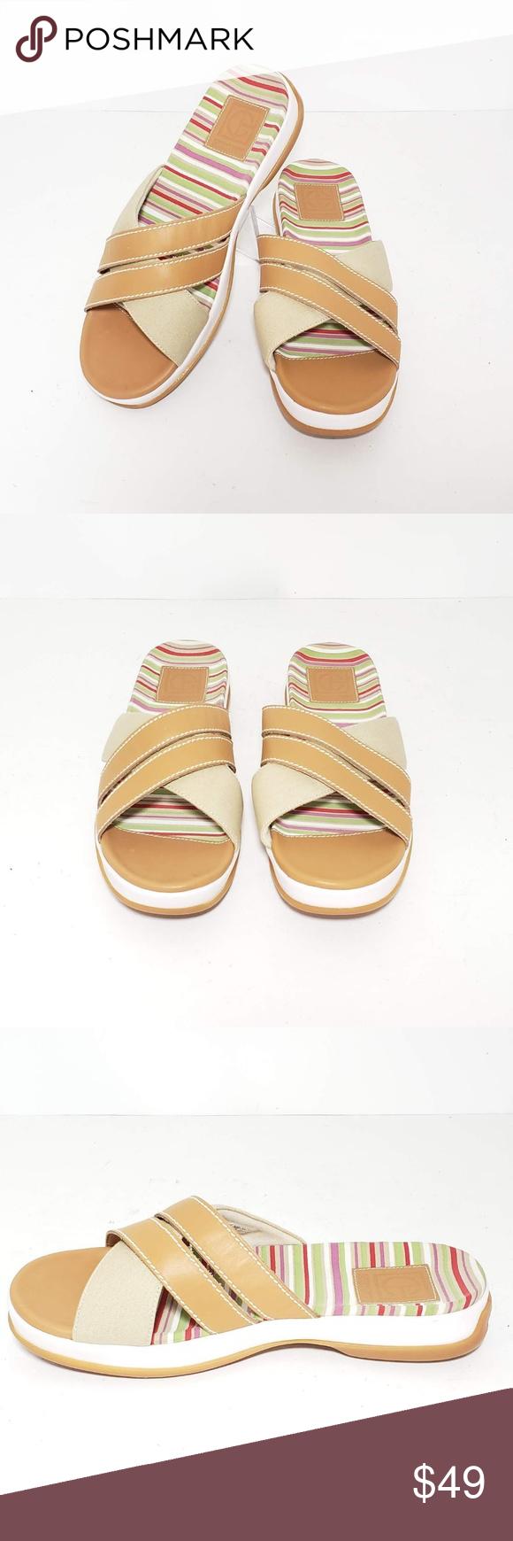 742df04bf Cole haan Open Toe Slides Flip Flops Sandal 7.5B Cole haan Women Slides Flip