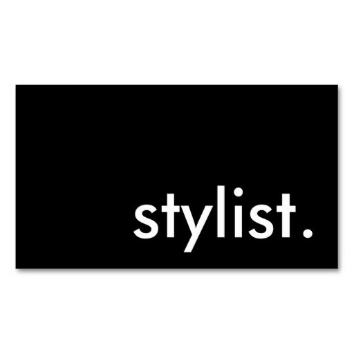 Stylist business card stylists click and business card templates stylist business card reheart Choice Image