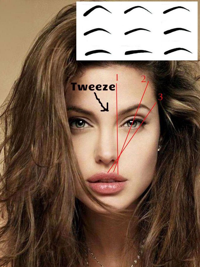 Eyebrows Hair Makeup Pinterest Eyebrow Angelina Jolie And Brows