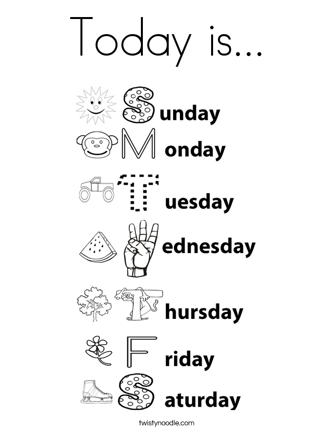 Days Of The Week Worksheet Preschool Writing Preschool Learning School Worksheets