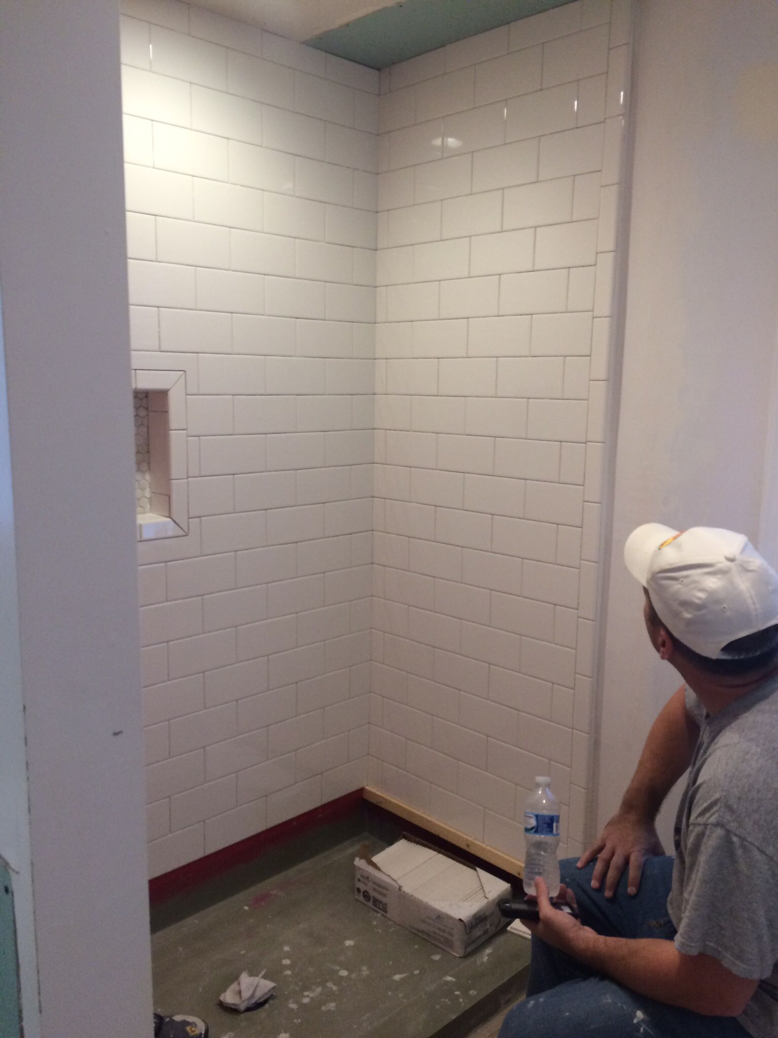 Shower subway tiles. These are the 4x8 american olean tiles from ...