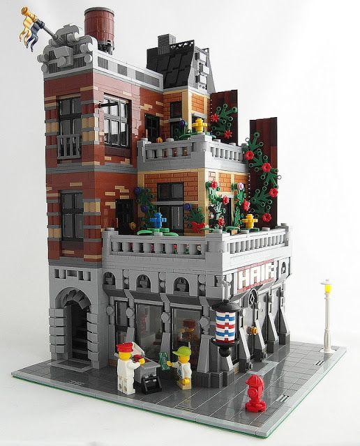 DeToyz Shop: Lego MOC - Terrace Apartment | Lego moc building ideas