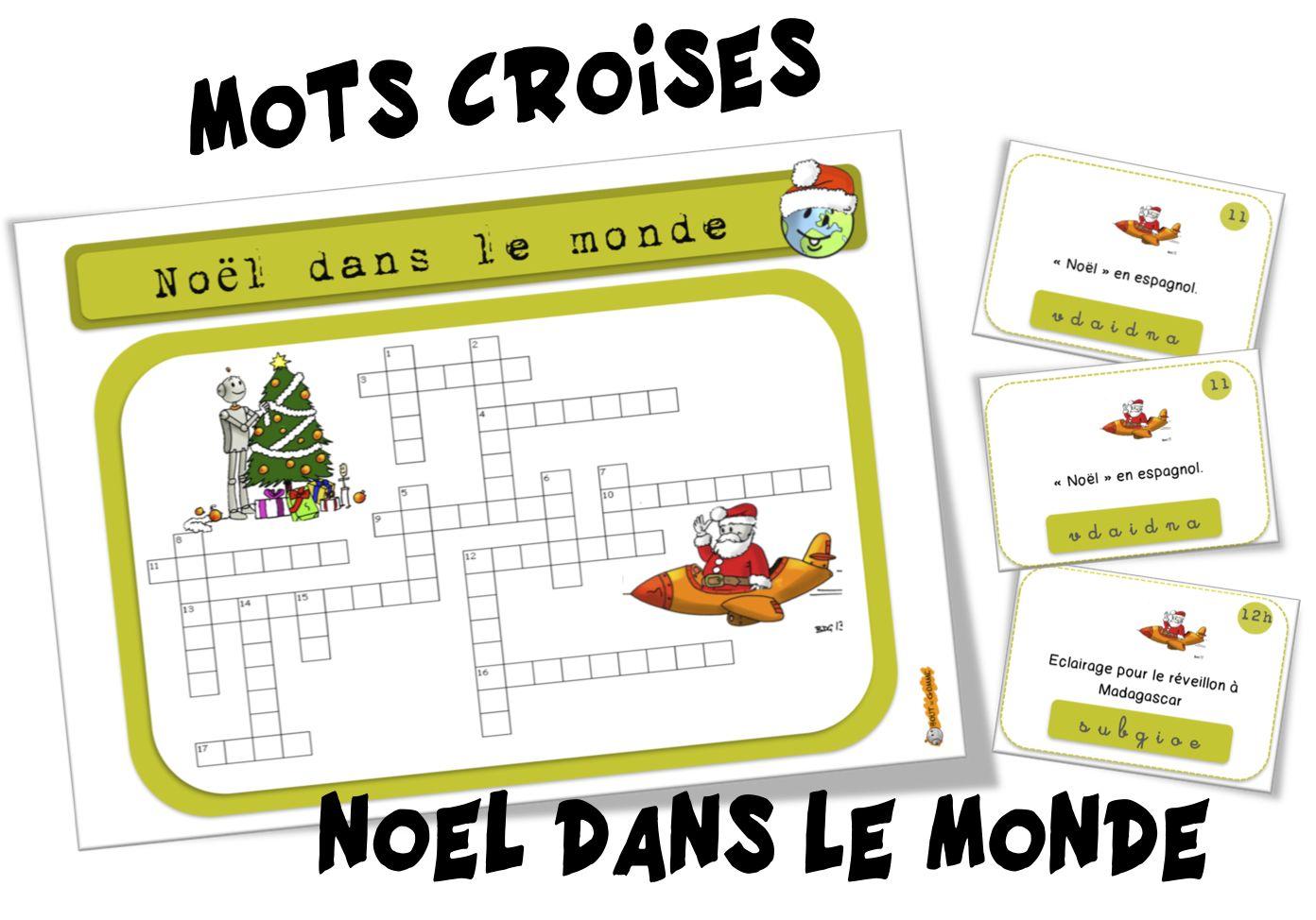 Mots Croisés Noël Dans Le Monde Noël Pinterest Christmas