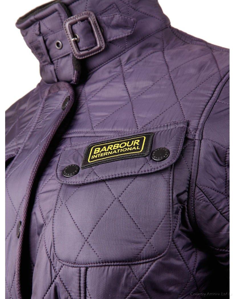 058cadcb9f683 Barbour Ladies' International Polarquilt Jacket - Purple LQU0062PU71 (L804)    Country Attire