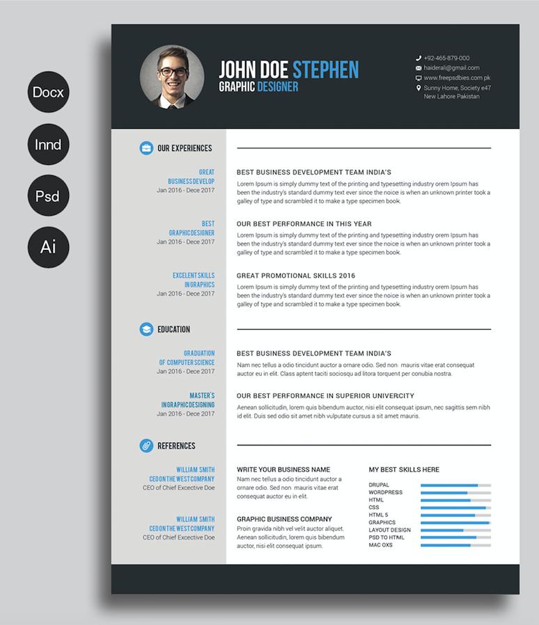 Pinterest 40 Best Free Resume Templates 2017 Psd Ai Doc Free Printable 6964f754 Re Free Cv Template Word Free Printable Resume Free Printable Resume Templates