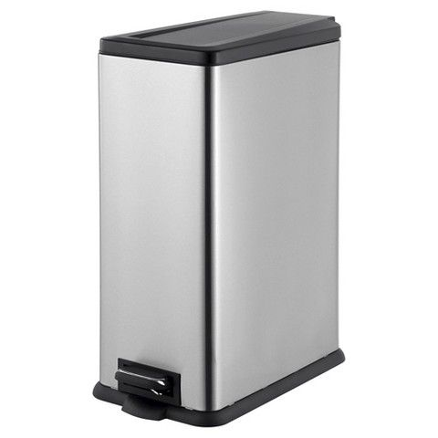 45L Rectangle Step Trash Can   Stainless Steel   Room Essentials™