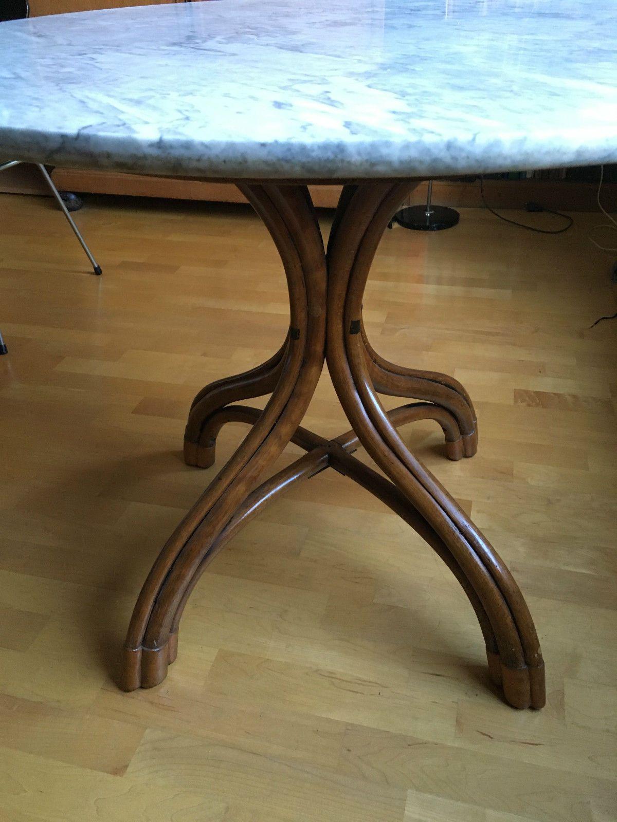 Original Thonet Tisch No 7 Bugholz mit Marmorplatte | eBay | Thonet ...