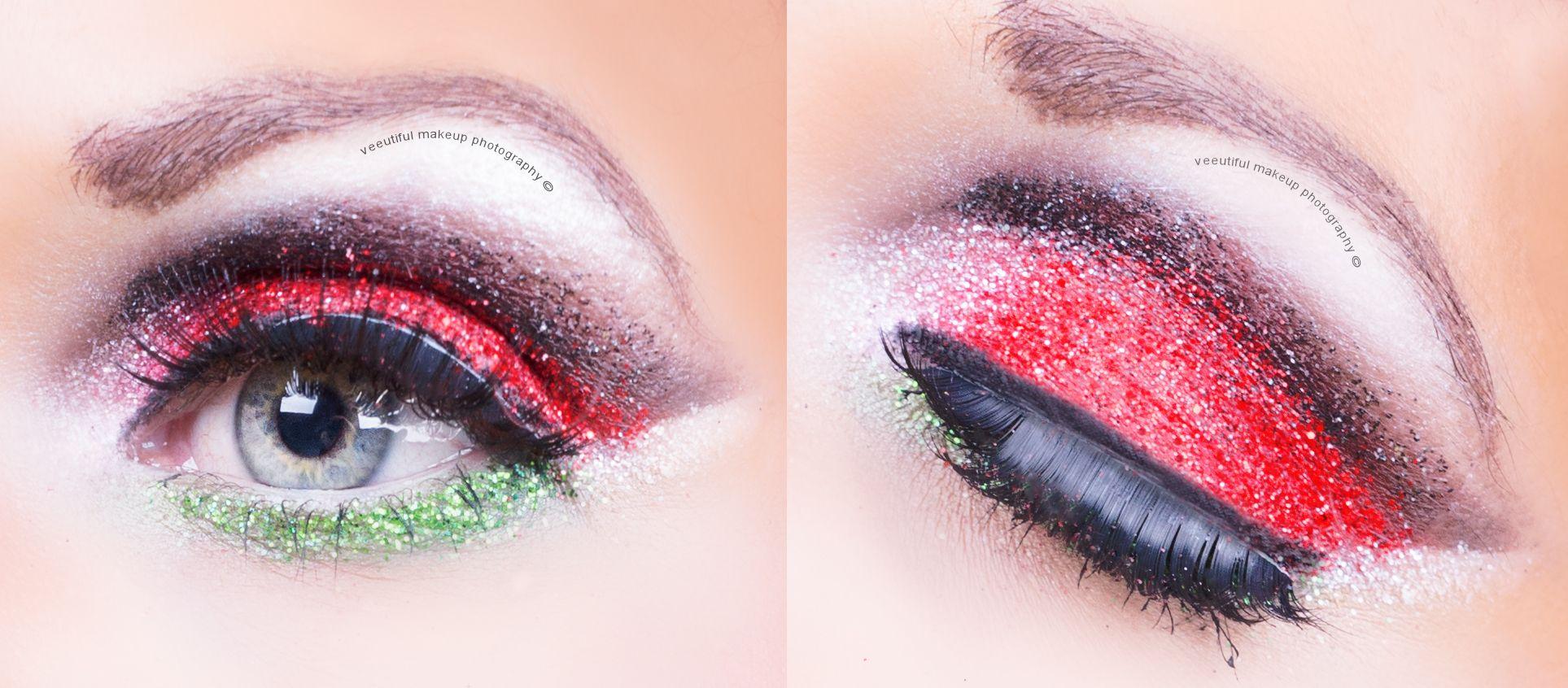 sexy christmas eyes #makeup #christmas #xmasbeauty #christmasmakeup