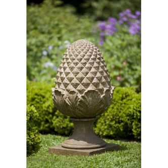 Campania International, Inc Williamsburg Grand Pinecone Statue   Color:  Brownstone