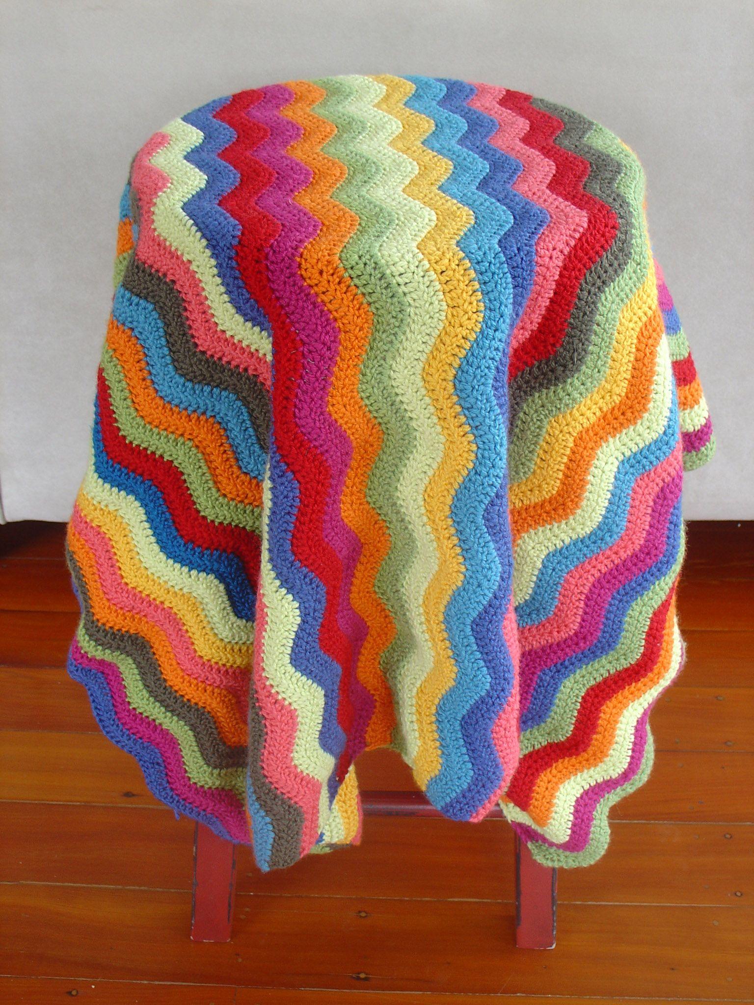Ripple blanket   Mantas y colchas   Pinterest   Manta, Colchas y ...