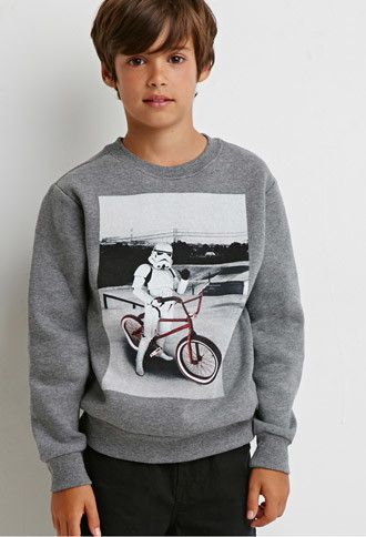 Stormtrooper Bicycle Graphic Sweatshirt Kids Forever
