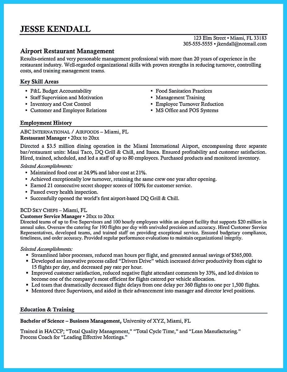 Sample Bar Manager Resume - sarahepps.com -