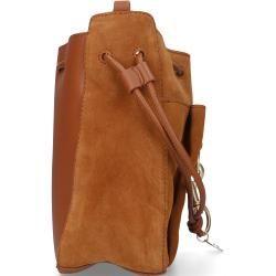 Handtasche Tony Rindsleder Logo braun Chloé
