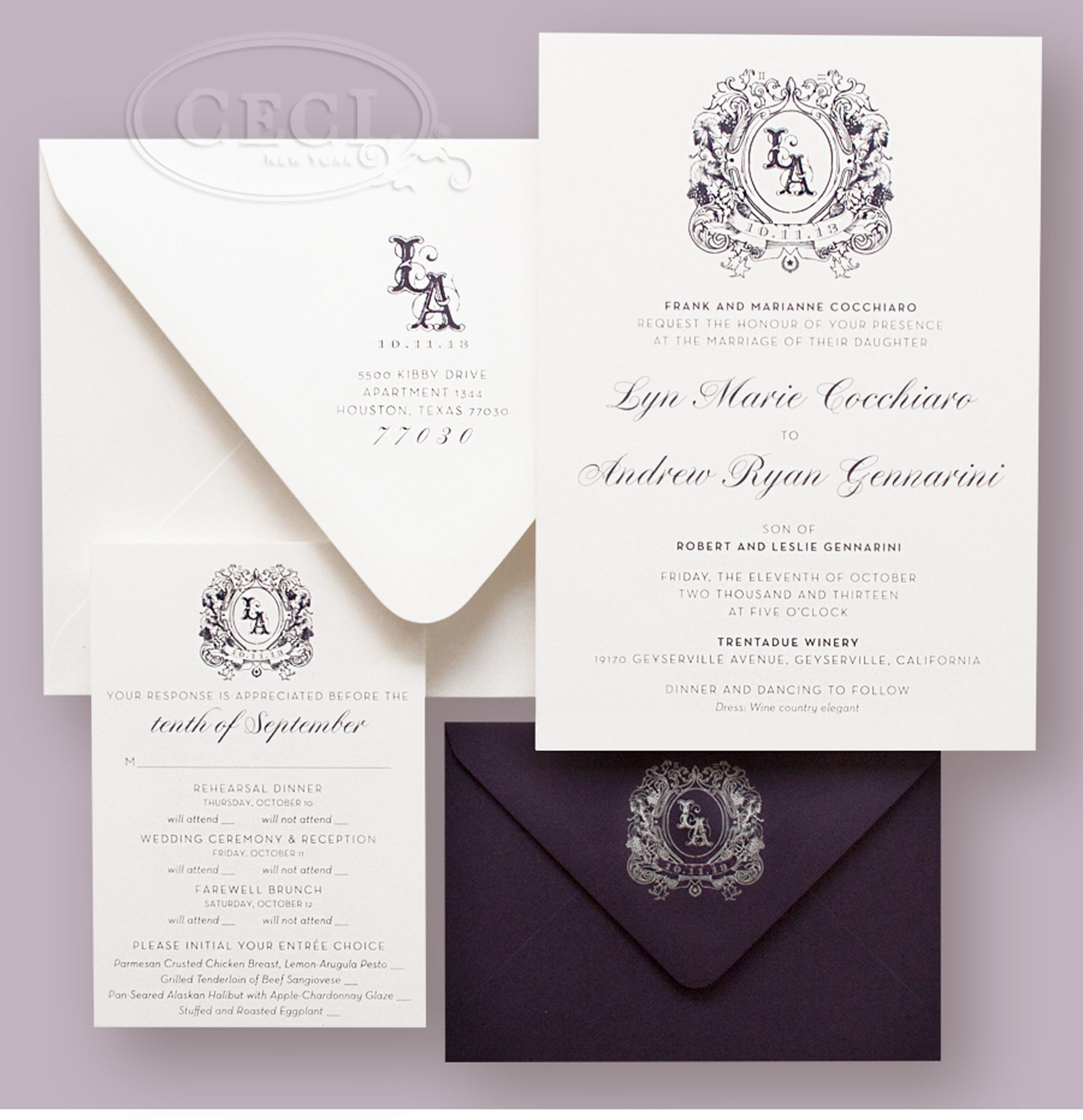 Luxury Wedding Invitations by Ceci New York - Our Muse - Vineyard ...