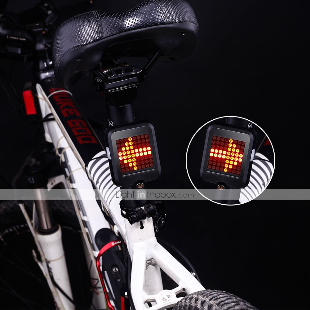 Turn Signal Lights with Wireless Remote Control Rechargeable Multifunctional Modes Waterproof Cycling Warning Light for Mountain Bike Bike Tail Light Road Bicycle Bike Rear Light LED