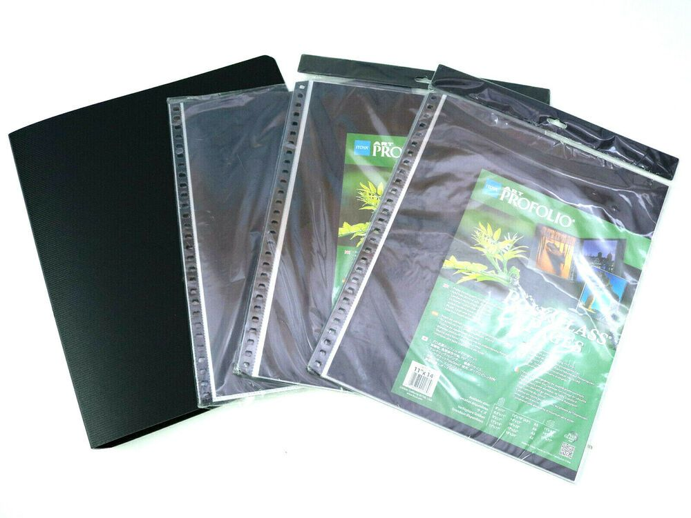 Lot Itoya Art Portfolio Polyglass Refill Pages Size: 11