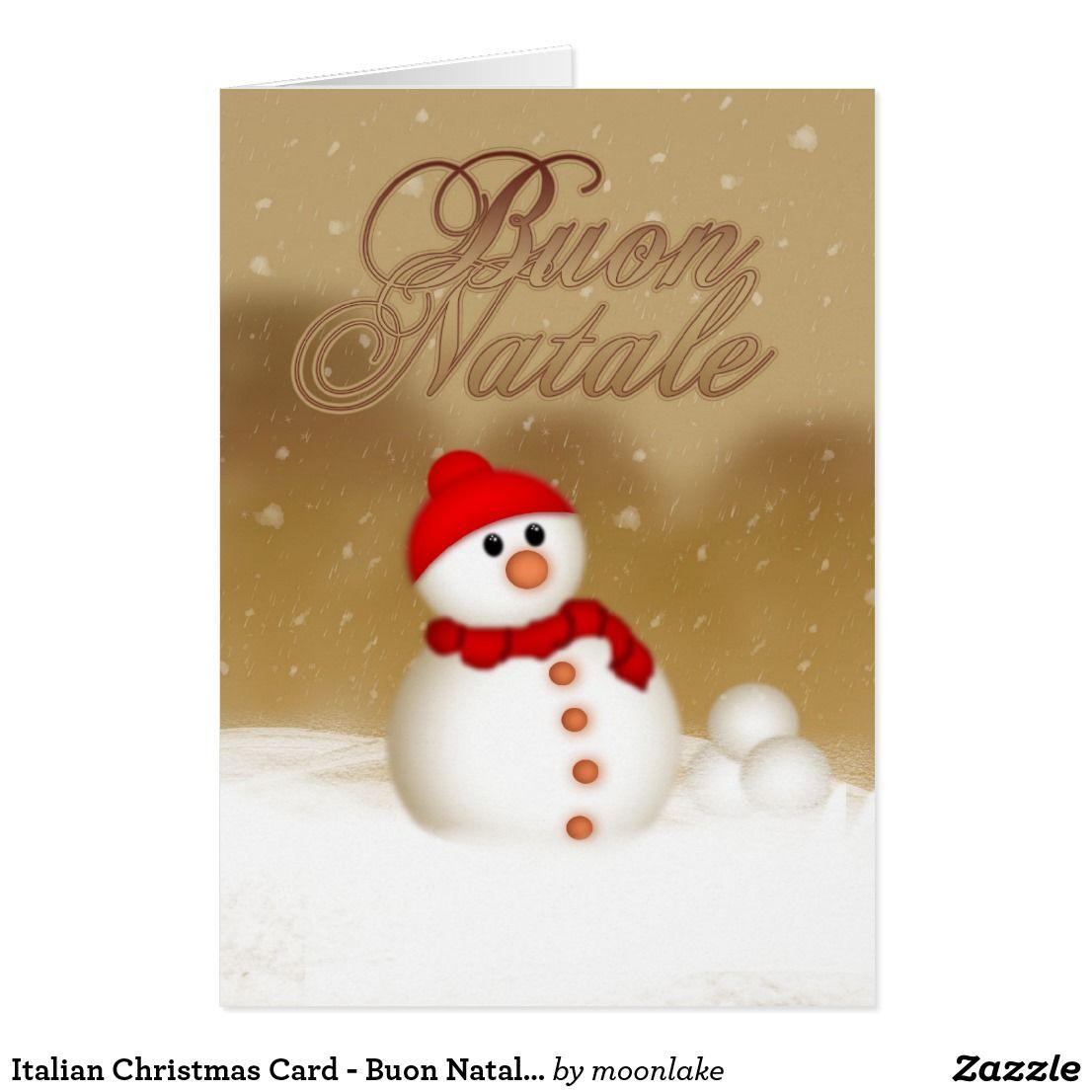 Italian Christmas Card - Buon Natale e Felice Anno | Custom ...