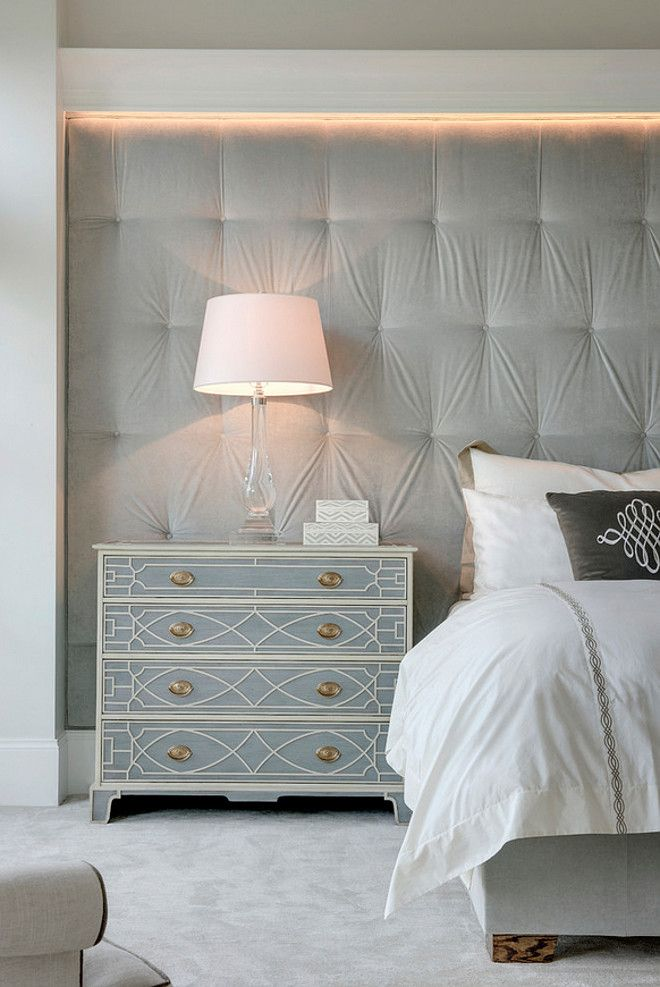 Master Bedroom With Tufted Headboard Wall Spacecrafting