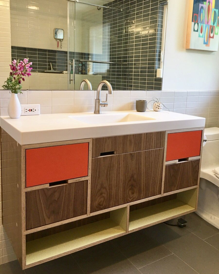 Kerf Design Walnut Vanity Kerfdesign Kerf Vanity Bathroomvanity Bathroomrenova Bathroom Interior Design Bathroom Cabinets Designs Luxury Bathroom Vanities