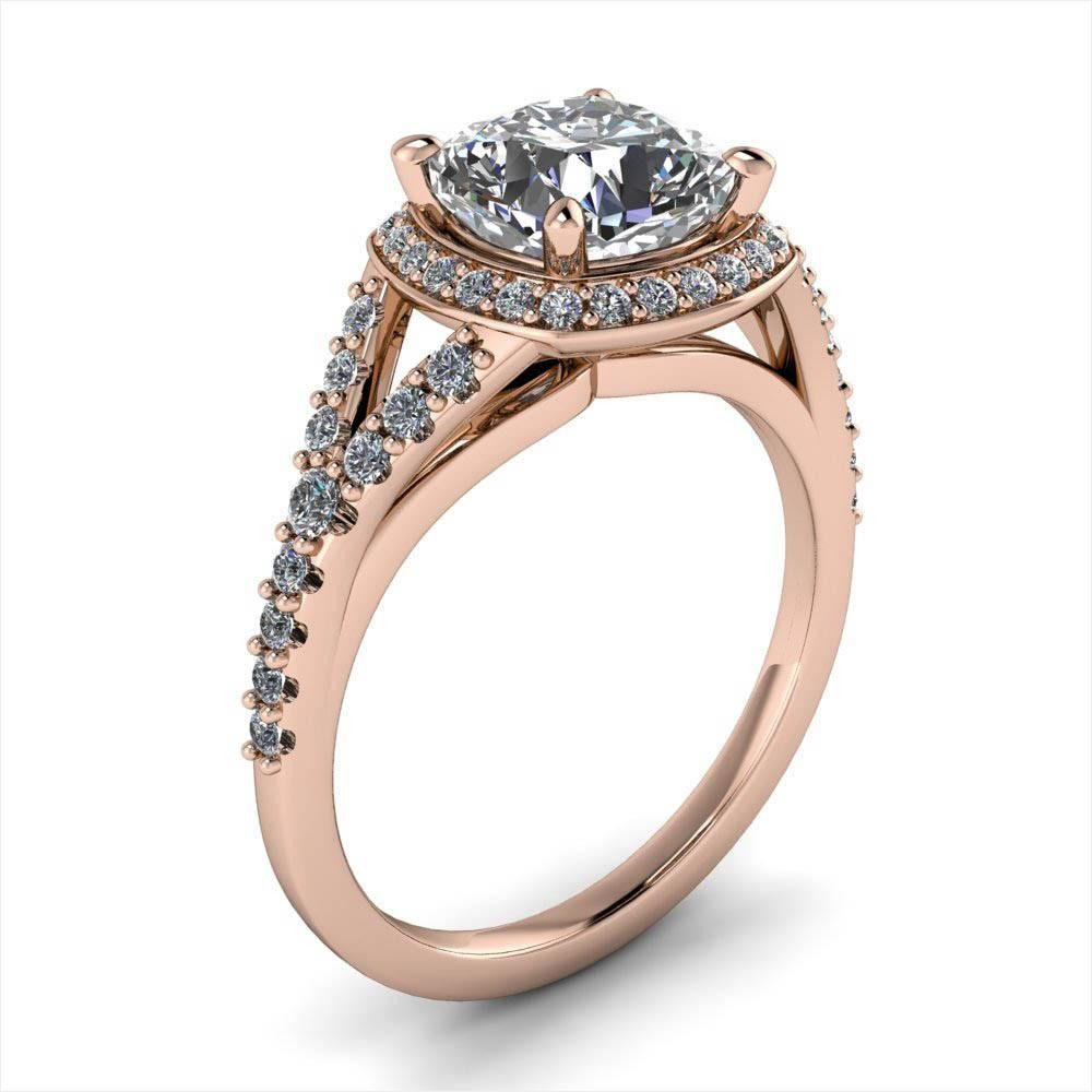 70 Special forever Diamonds Engagement Rings  Vo1098 #cushionengagementring