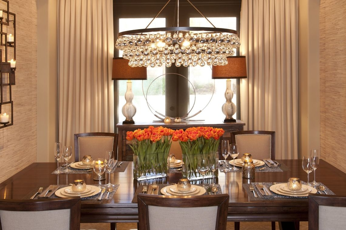 Vibrant Transitional Family Home Dining Room Robeson Design ...