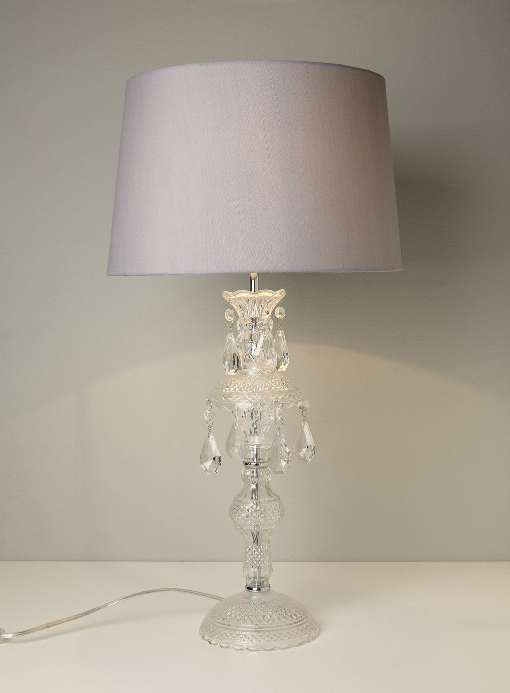 Holly Willoughby Pressed Glass Table Lamp