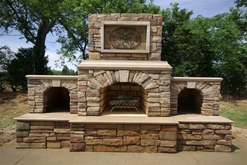 Outdoor Fireplaces Brock White Company Usa Outdoor Stone Fireplaces Outdoor Fireplace Outdoor Fireplace Kits