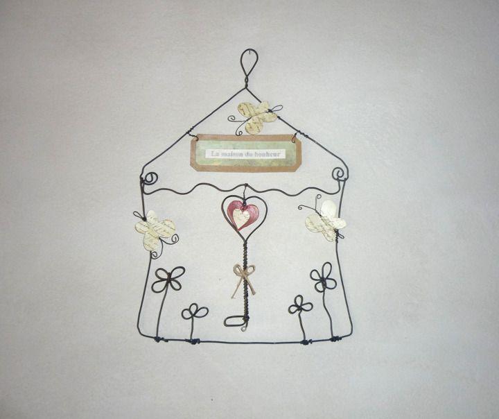 la maison du bonheur cr ation en fil de fer papier. Black Bedroom Furniture Sets. Home Design Ideas
