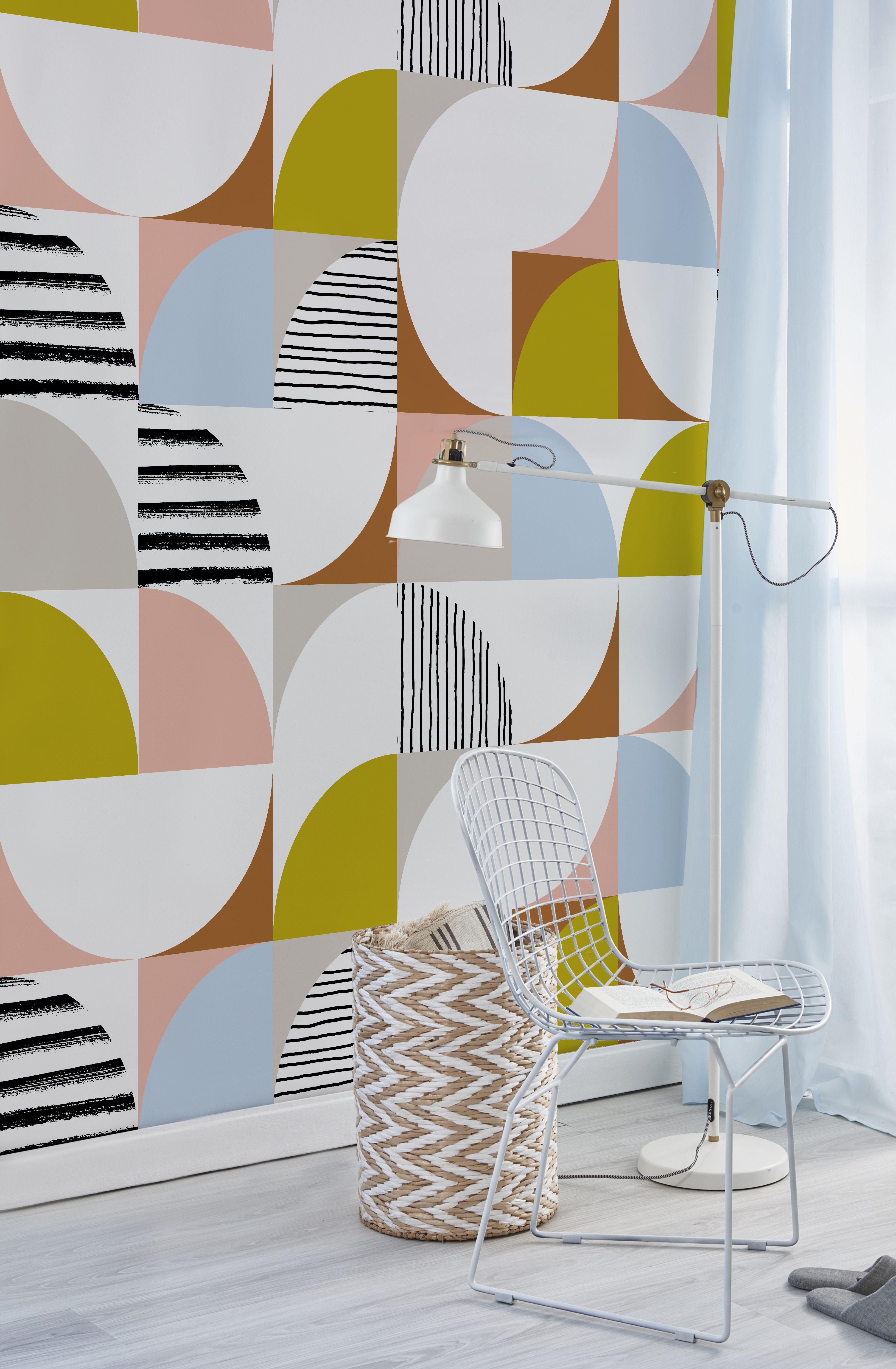 Mid Century Modern Mid Century Tiles Newmor Wallcoverings Mid Century Modern Wallpaper Mid Century Modern Patterns Mid Century Wall Art