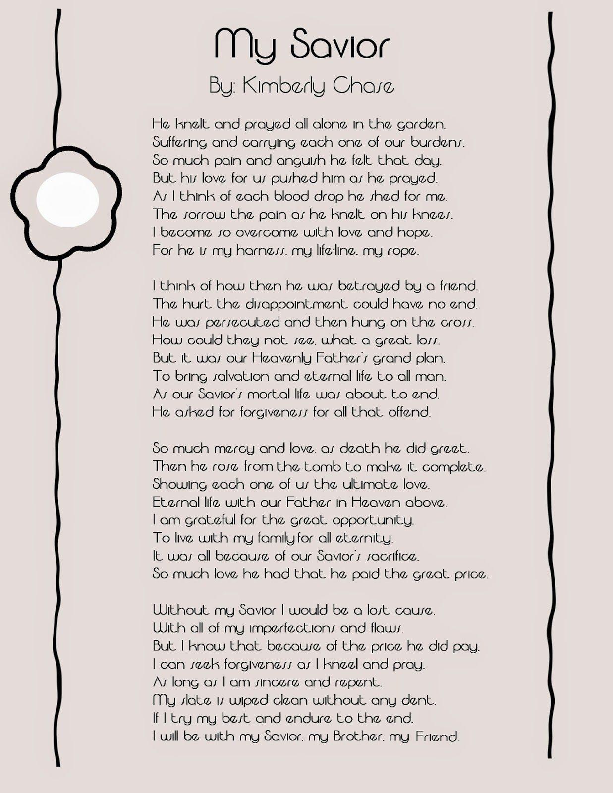 Easter Poem My Savior Easter Poems Easter Speeches Easter Prayers