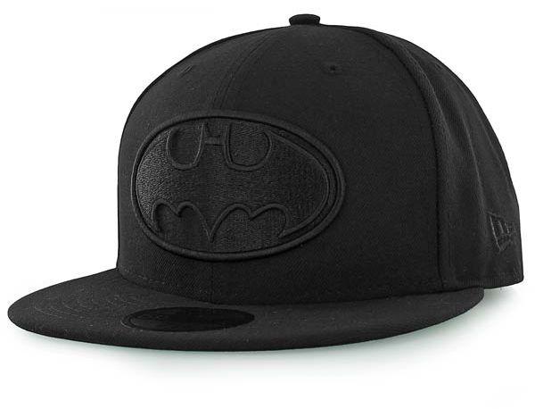 Batman Black Tonal 59Fifty Fitted Baseball Cap by DC COMICS x NEW ... ff8a829b79b2