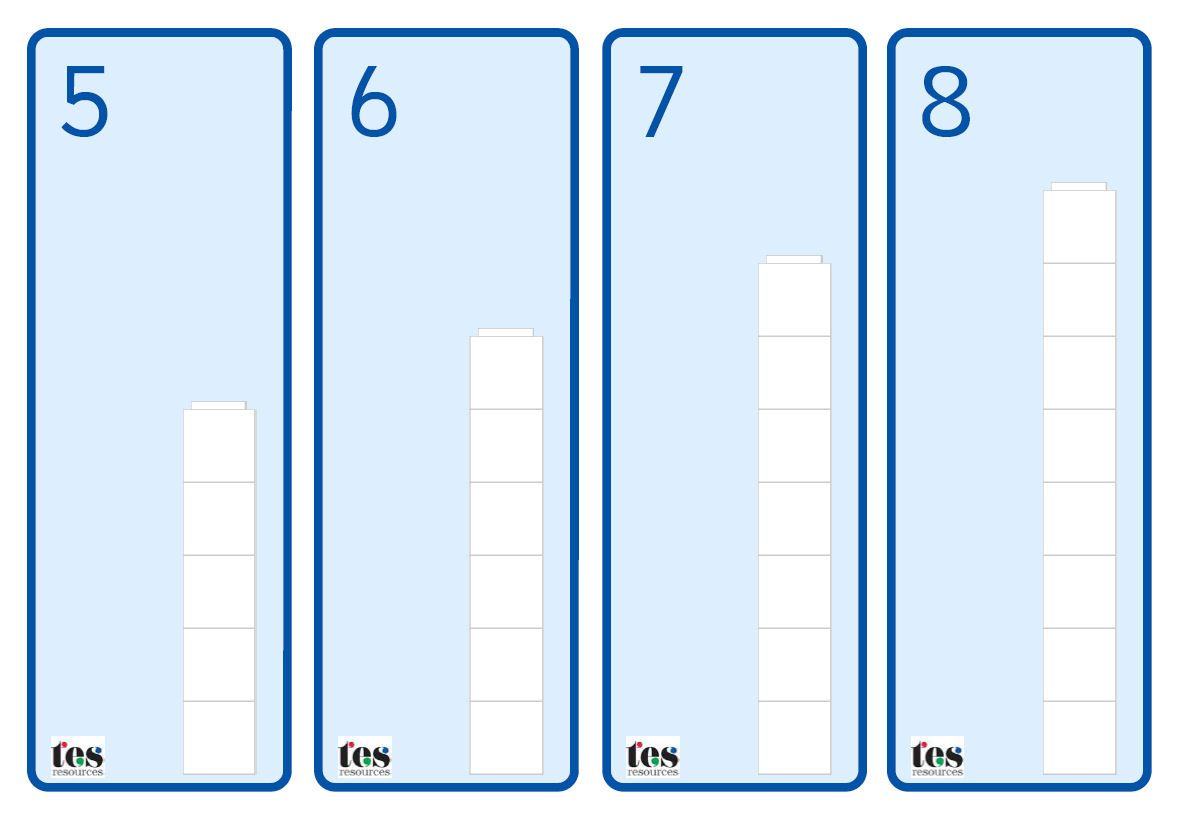A Set Of Base Cards That Pupils Can Use With Maths Cubes