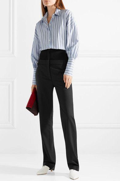 straight-leg poplin trousers - Blue Tibi eoRj81r